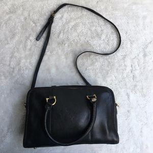 Vintage Coach Legacy Black Leather Crossbody Bag